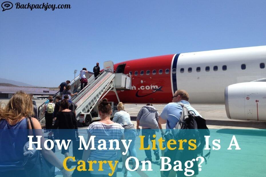 How Many Liters Is A Carry On Bag