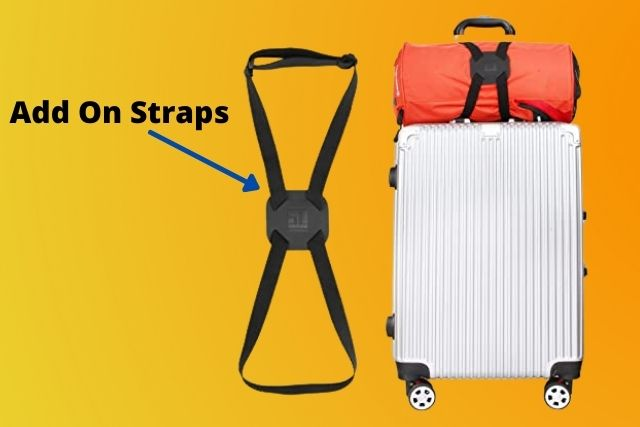 Add on straps To Attach Backpack To Rolling Suitcase